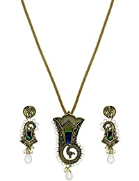 Zaveri Pearls Jewellery Set For Women (Antique Gold) (ZPFK5636)