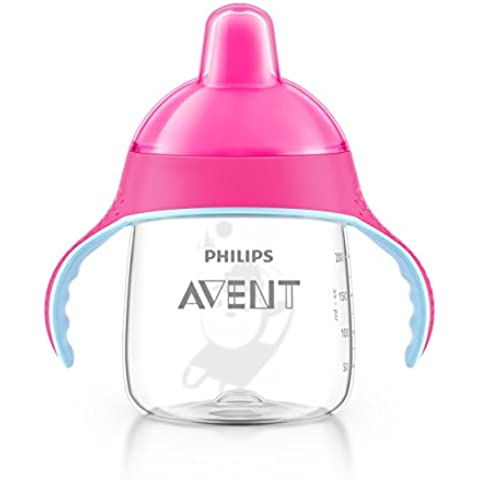 Philips Avent Tazze con Beccucio Morbido, 200 ml, (Rosa Piccolo Stock)