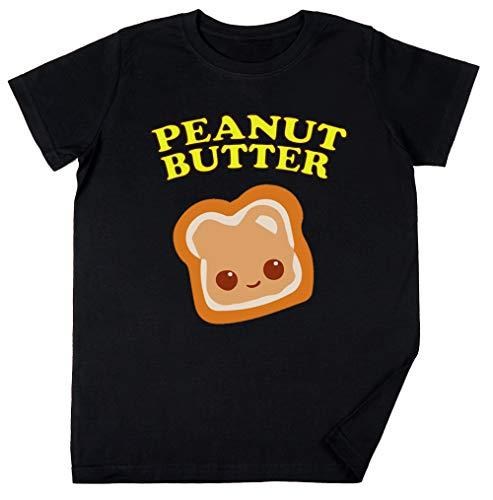 Couple - Peanut Butter (& Jelly) Kinder Jungen Mädchen Unisex T-Shirt Schwarz