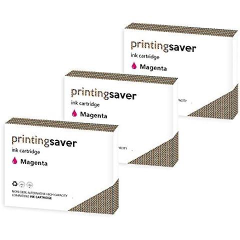 Printing Saver LC-1280 MAGENTA (3) cartucce di inchiostro per BROTHER MFC-J5910DW, MFC-J6510DW, MFC-J6710D, MFC-J6710DW, MFC-J6910DW stampanti - Sostituzione Compatibile