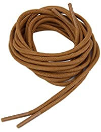 Footful 3Mm Waxed Brown Cotton Round Shoe Laces ,120Cm