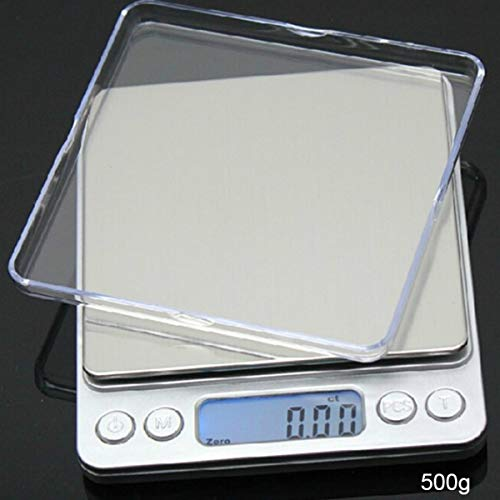 Back Packers Küchenwaage Food Nutrition Digital Weight Multifunktionswaage mit Abnehmbarer Schüssel 500g 1000g 2000g 3000g