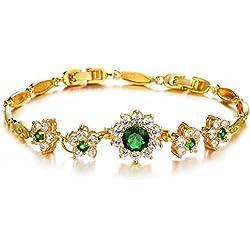 AnaZoz Schmuck Damen Mode Armband Gold 18K Vergoldeten Hochzeit Verlobung (22CM Länge)