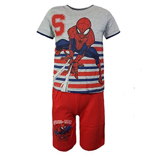 Spiderman Jungen Kleidungs-Set für den Sommer - 110-4/5 - grau