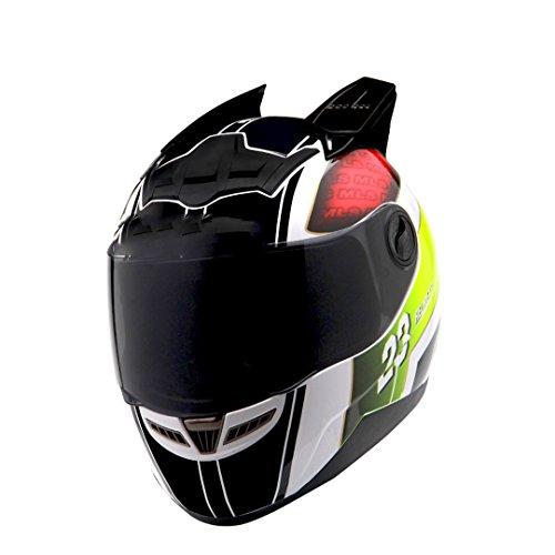 Harleeyr Motorrad Helm Frauen Flip up Motocross Helm Moto Helm Neuheit ABS Material Black Green XXL