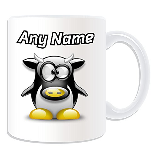 personalised-gift-cow-mug-penguin-animal-costume-design-theme-white-any-name-message-on-your-unique-