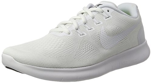 Nike Herren Free RN 2017 Laufschuhe, Weiß (White/White-Black-Pure Gris Platinum), 44.5 EU