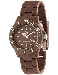 Marea B48107/20 - Reloj unisex de cuarzo, correa de caucho color marrón
