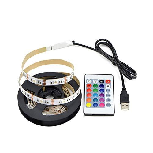 LED-TV-Hintergrundbeleuchtungskit RGB-LED-TV-Lichtleiste 5050 USB-Bias-Monitor Beleuchtung Beleuchtungsstreifen mit Fernbedienung