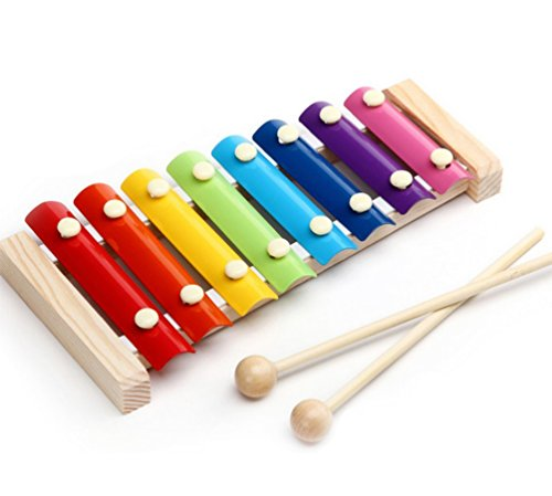 WDOIT 8 Sound Klavier Klavier Holz Fahrgestell Metall Schlüssel Frühe Bildung Puzzle Ausübung Musikinstrumente Kinder Holz Spielzeug Baby Urteilsvermögen Scheiben Toys