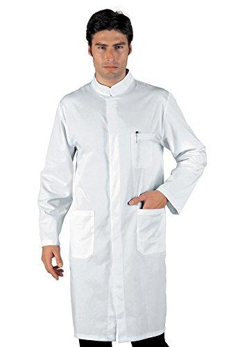 060400 Camice Uomo Davemport - Isacco Bianco per Abbigliamento per settori sanitario, benessere ed estetico Uomo Camici