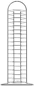 Metaltex Colonne de rangement pour CD Capacité 36boîtiers Noir