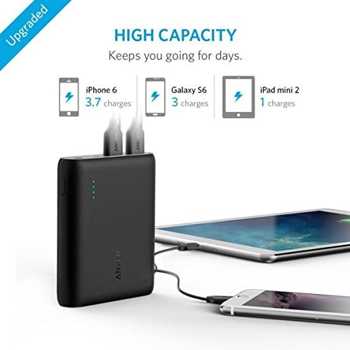 Best anker power bank in India 2020 Anker PowerCore 10400 mAh with Power IQ (Black) Image 2