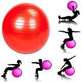 JERN Anti-Burst Fitness Exercise Stability Yoga Ball/Swiss, Birthing, Gym Ball 65 cm (Random Color)