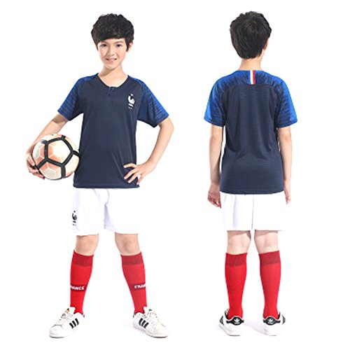 94a353e3e HomJo France kids Soccer Jersey 2018 World Cup Champion football Fans  Jersey