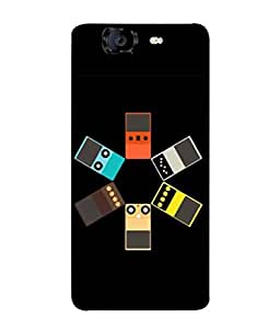 PrintVisa Designer Back Case Cover for Micromax Canvas Knight A350 :: Micromax A350 Canvas Knight (Design Photo White Background Cover Pouch)