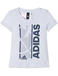 adidas Cf6744 Camiseta, Niñas, (aeroaz/Añil/Negro), 152-