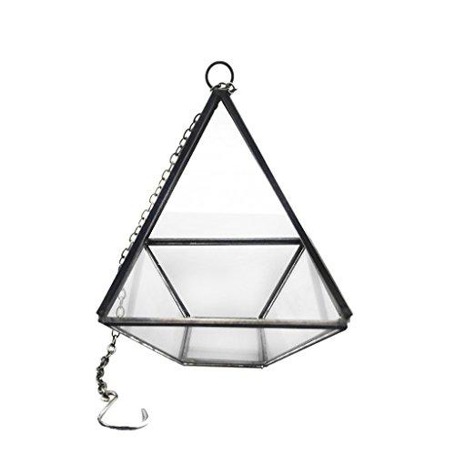 Glas Terrarium Miniatur-Gartengewaechshaus 10cm - Haengen Rautenfoermige Pflanzbehaelter