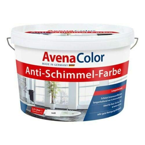 AVENA COLOR Anti Schimmel Farbe 5 L Wandfarbe Dispersion weiß
