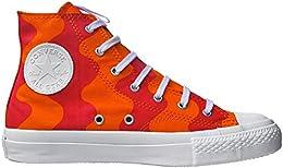 converse alte arancione