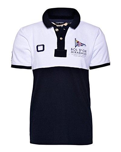 Bol d'Or Polo Navy White