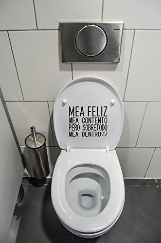 Pegatinas Vinilo Tapa inodoros MEA Feliz | Varias
