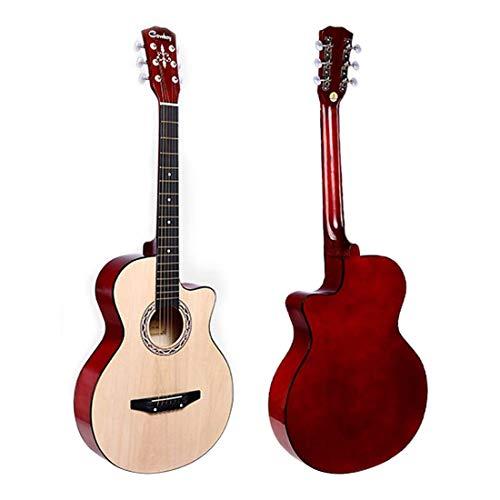 Jjonlinestore, chitarra acustica classica, in noce, 3/4,misura 96,5cm, per principianti, studenti, adulti, ragazzi e ragazze, kit con chitarra a 6 corde, idea regalo per natale e compleanno chitarra