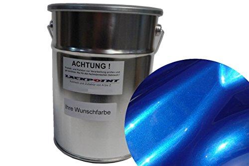 Lackpoint 0,5 Liter Spritzfertigen Wasserbasislack Candy Blau 2 Metallic Autolack