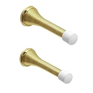 Home Smart 5 x Brass Spring Door Stop Stops Stopper Gold