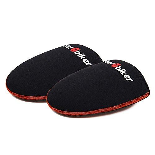 Ein Paar Fahrrad SBR Zehenschutz Überschuhe Fahrradschuhe Zehenabdeckung Zehenwärmer für Herren Radfahren Outdoor Sports Wasserdicht Schwarz