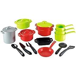 Jouets Ecoiffier - 991 - Sachet de casseroles pour enfants 100 % Chef - 19 pièces - Dès 18 mois - Fabriqué en France