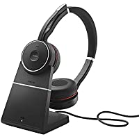 Jabra Evolve 75 MS Duo professionelles Bluetooth-Headset mit ANC für PC/Laptop/Tablet/Smartphone, Skype for Business zertifiziert, inkl. Ladestation