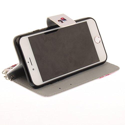 LAOKE Apple iPhone 7 (4.7 pouces) Folio Flip Coque, Pretty Personnalité Très Protecteur Bonne Qualité PU Cuir Portefeuille et Card Slot Étui en Flip Cover /Anti-rayures Smart Case pour Apple iPhone 7  4
