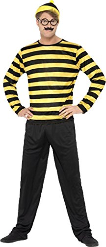 wheres-wally-odlaw-costume-black-yellow-chest-38-40-leg-inseam-3275