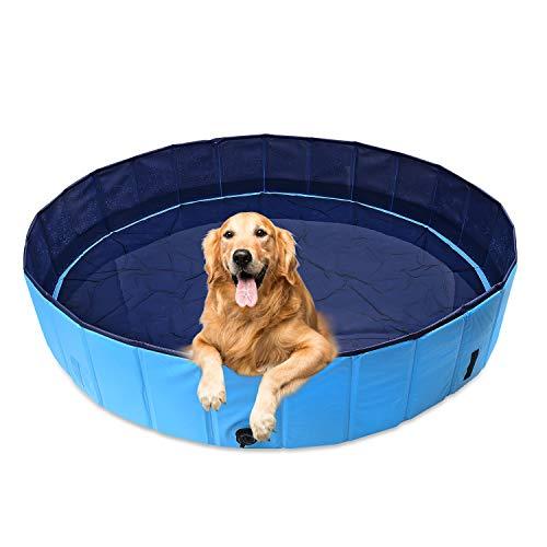 AMIGOB Hundepool Doggy Pool Swimmingpool Badewanne Pool Hundepool Ø120*30cm Schwimmbecken Planschbecken