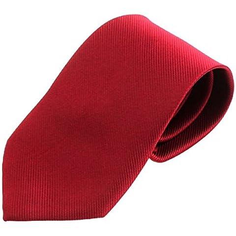Amison Nueva sólido color clásico corbata lujo lazo rayado tejido jacquard para Hombres