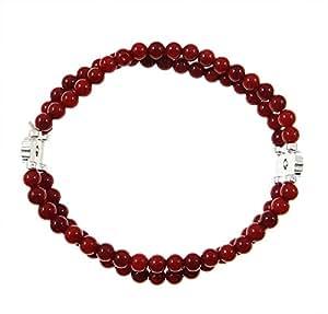 Koralle Armband, natürlich, rot, zwei-Stränge, dehnbar