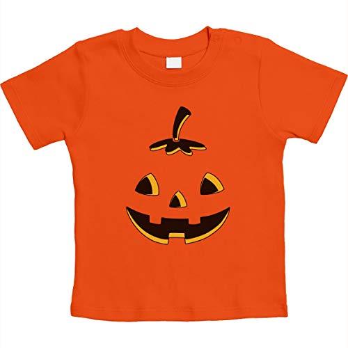 Halloween Baby Kostüm Body mit Kürbis Unisex Baby T-Shirt Gr. 66-93 3-6 Monate / 66 Orange