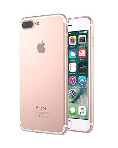ZhuiKun Coque iPhone 6/6s/7 Plus,Housse Etui TPU Silicone Clair Transparente Ultra Mince