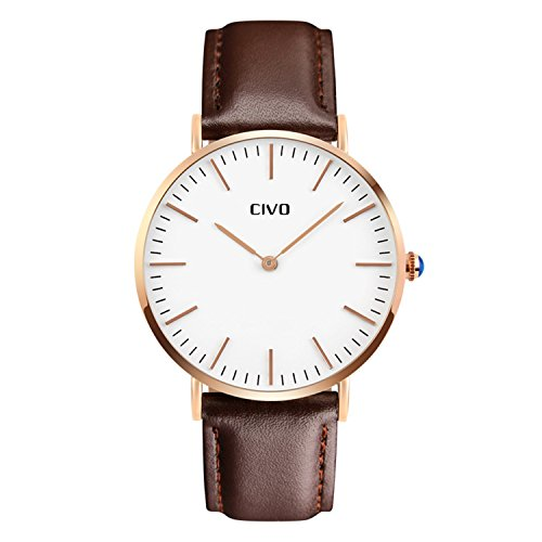 civo-mens-brown-leather-band-quartz-analogue-wrist-watch-mens-womens-business-casual-simple-classic-
