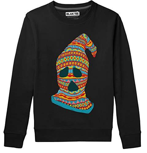 BLAK TEE Spooky Sock Killer Halloween Mask Unisex/Damen/Herren Pullover Sweatshirt M