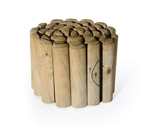 Bordure en bois pour jardin 200 x 20 x 5 cm