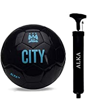 Combo RASON Black (3 Ply PVC; Size- 5) Football with Pump