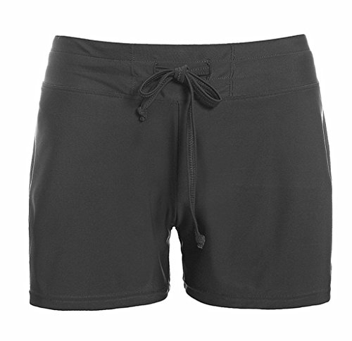 charmleaks damen badeshorts schwimm sport badehose schwarz xxl. Black Bedroom Furniture Sets. Home Design Ideas