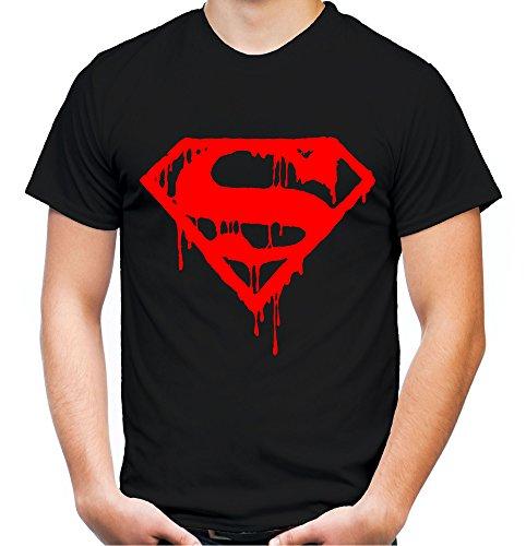 Superman Death Männer und Herren T-Shirt | Spruch Retro Comic Geschenk | Roter Druck (XXL, (Superman Kostüm Plus Size)