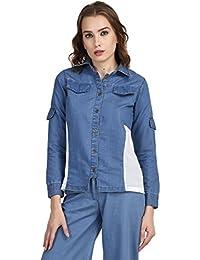 7da78a849d The Gud LookDenimMix   Match Denim Shirt - Blue
