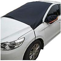 Hete-supply 210T - Protector de Parabrisas para Coche, Color Plateado, para Nieve, Hielo y Parasol con Cubierta de Espejo para Todas Las Estaciones, Bloque de Nieve UV, anticongelante