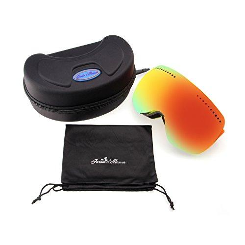Jardin d 'Amour Damen Herren Anti-Fog verstellbar abnehmbarer Skibrille Sicherheit Maske jag7009, Herren, (Angry Birds Maske Rote)