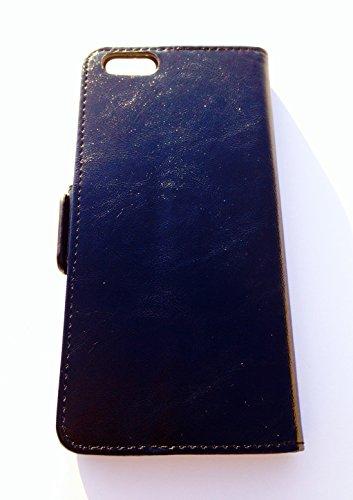 FLIP WALLET TASCHE HÜLLE PORTEMONNAIES FÜR IPHONE 6 UND 6S - HANDY COVER CASE - BLAU Blau