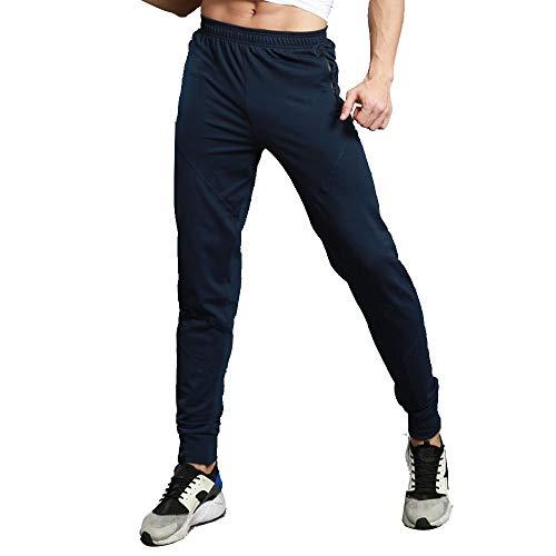 Xmiral Pantalón Deportivo Jogger Estilo Ocio Casuales para Hombre Chándal Absorbente Transpirable (Azul,L/ES 38-40)